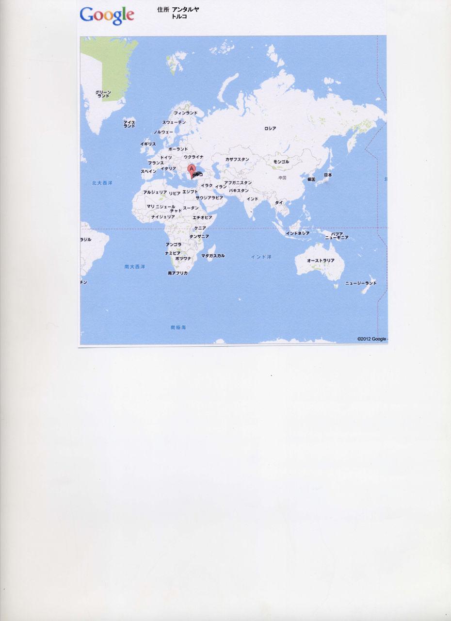 地図アンタルヤ