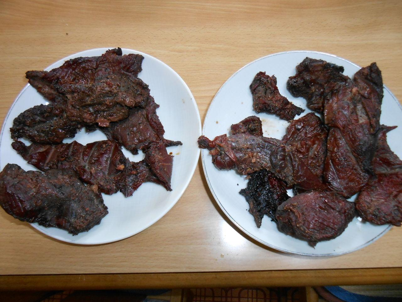 鹿肉の燻製造りに初挑戦。4/12,丸木小屋の囲炉裏の火入れ式 ...