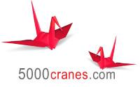 5000 Cranes logo