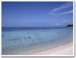 南国の青い海