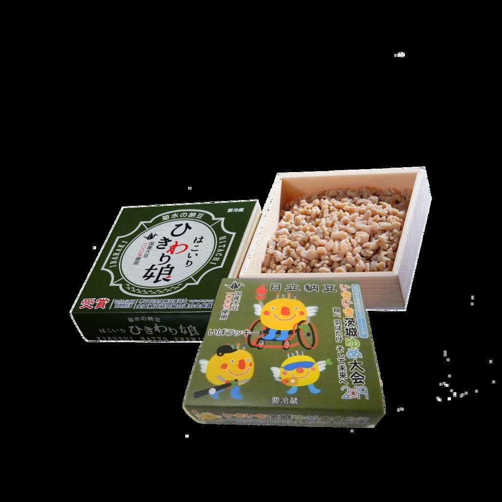 いきいき茨城ゆめ国体2019オリジナル納豆「いばラッキー納豆」引割