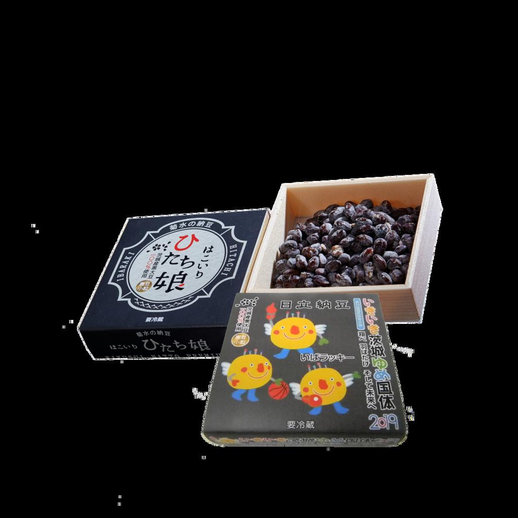 いきいき茨城ゆめ国体2019オリジナル納豆「いばラッキー納豆」黒