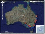 オーストラリア走行マップ