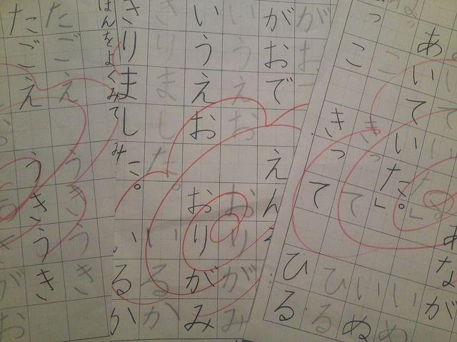 国語 1年生 国語 : ... 1年生女児の国語ノートです