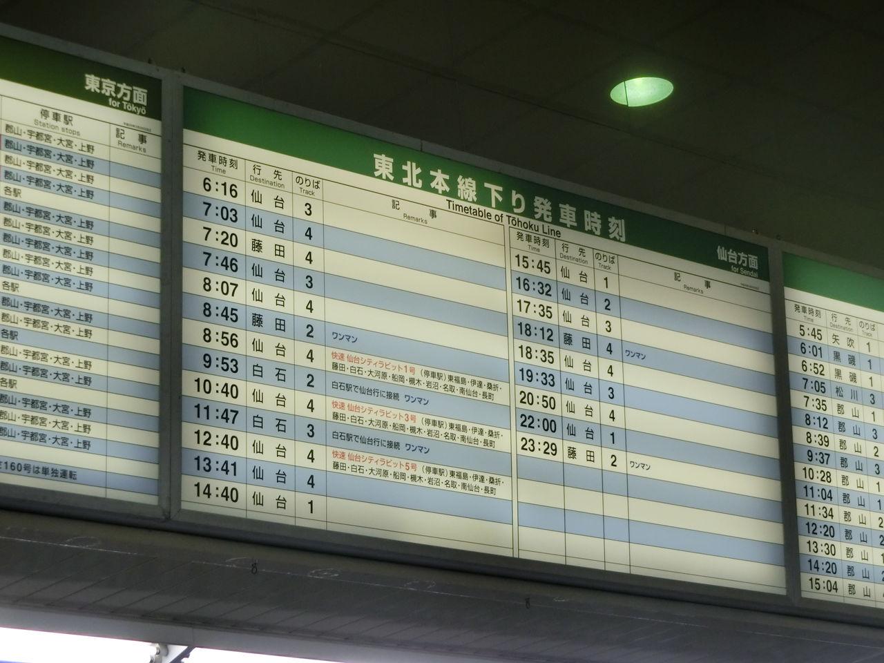 東北 新幹線 時刻 表 福島