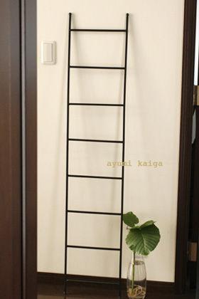 はしごを使って狭いスペースを有効活用