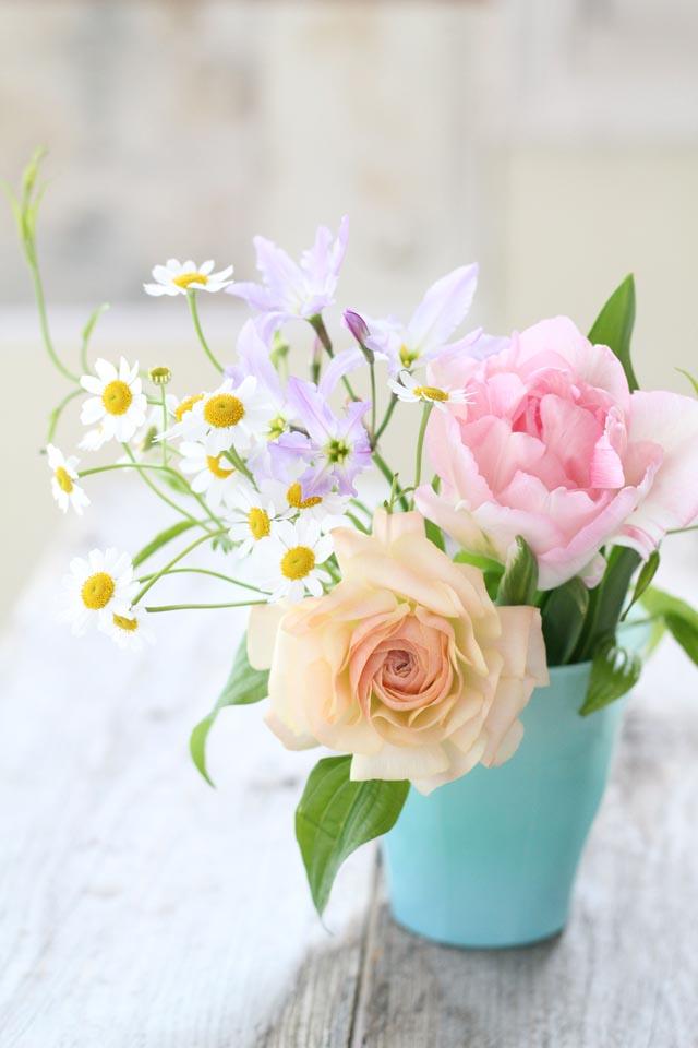 花材は5本だけ!自分で作るミニブーケ