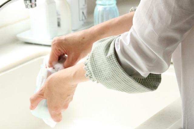 腕カバー 作り方 アームカバー 洗い物 ガーデニング 袖口汚れ