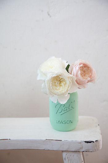 Mason jarをペイント
