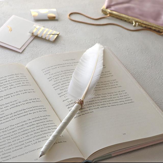 花嫁DIY♪ 挙式や受付にピッタリな羽根ペンの作り方