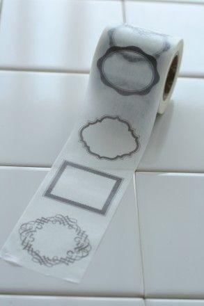 マスキングテープで収納ラベリング