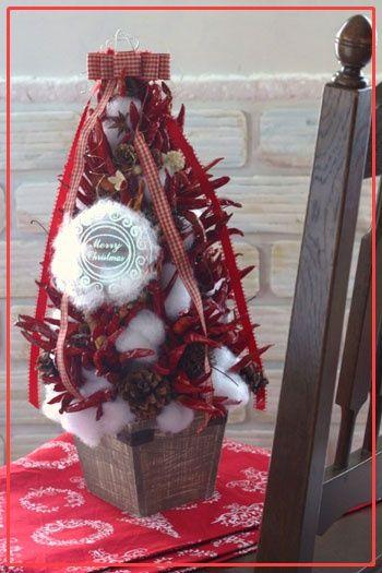 ◆クリスマスNo.13 とうがらしのツリー