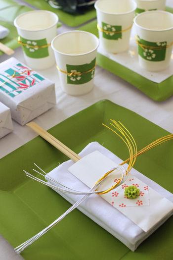 新年会はIKEAの紙製トレーで