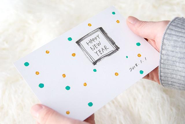 年賀状 手書き アイデア 簡単
