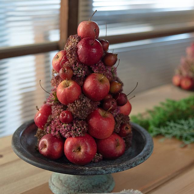 【長野県/道の駅・あおき】後編 ヒメリンゴのクリスマスツリーの作り方