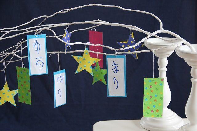七夕にはお飾りにシリカゲルをしのばせ、湿気も気分も晴れるようにお願い♪
