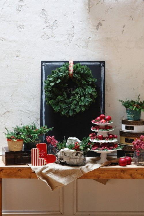 定番カラーのクリスマス ~インテリアもRed & Green+チェックでデコ☆