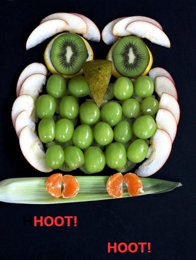 ハロウィーン フクロウ カットフルーツ 簡単