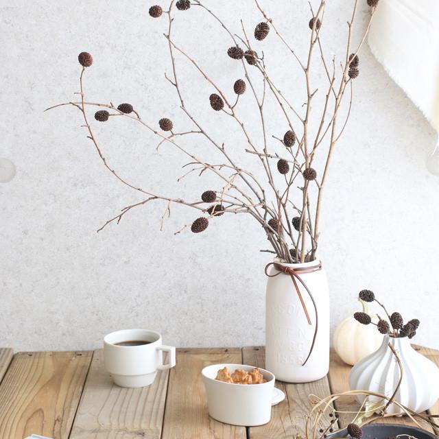 ヤシャブシの実で、たちまち秋のインテリア 長さ別の飾り方ポイントつき