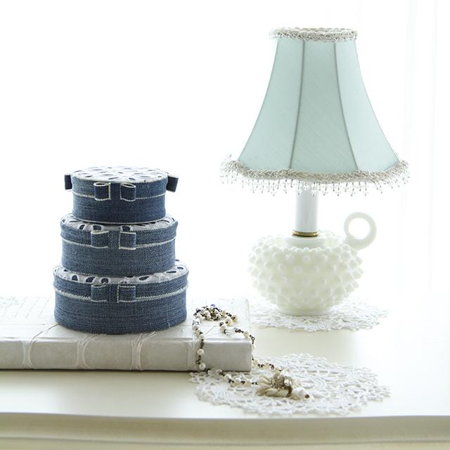 洋服リメイクの簡単カルトナージュ ~ ルピシアの紅茶缶に貼ってみよう~♪