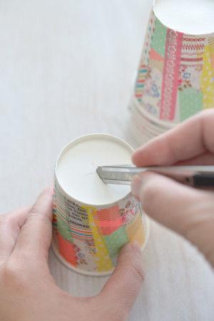 紙コップとマステで♪ 手づくりイルミネーションガーランド