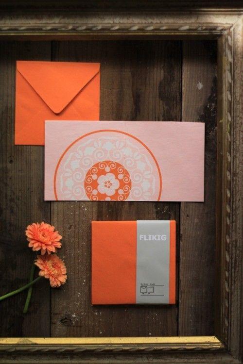 モダンオリエンタル♪ IKEAで見つけた封筒付きカード