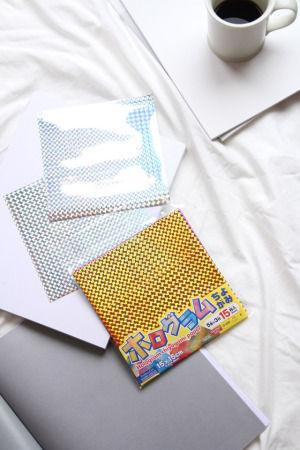ホログラム折り紙のインテリアアイディア