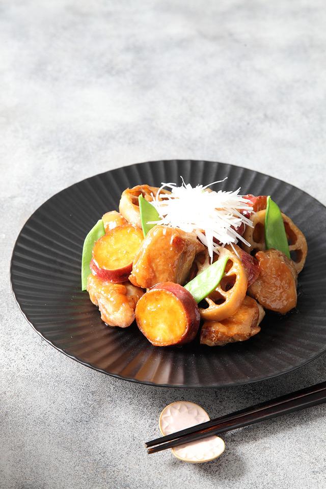 レシピ 秋 サツマイモ さつまいも 鶏肉 煮物