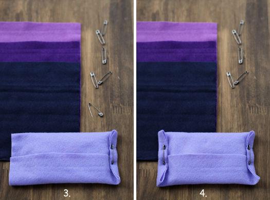 縫わずに簡単・フェルトのポケットティッシュカバー