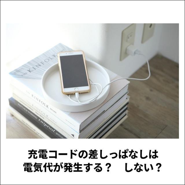 【電力会社に聞いてみた】充電コードの差しっぱなしは電気代が発生する?