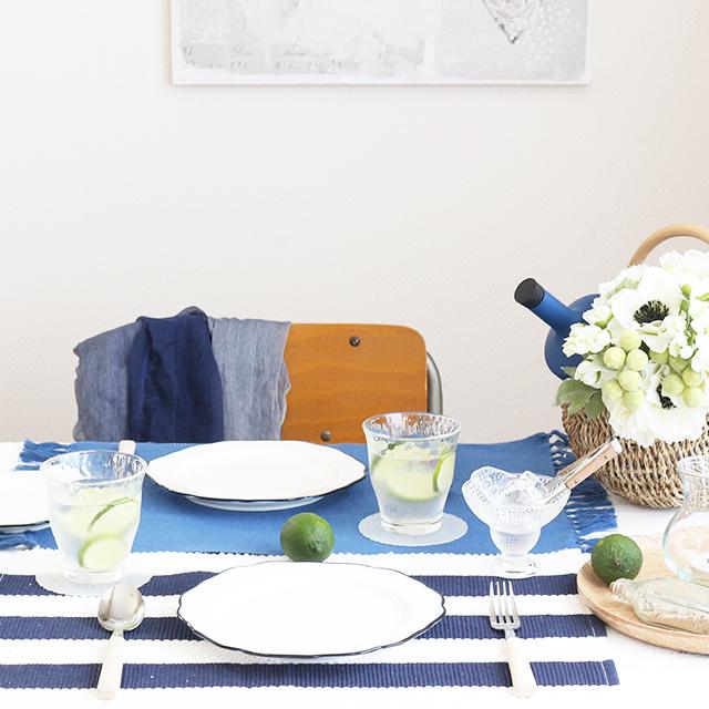 初夏のテーブルコーディネート♪ マリンテイストで涼し気に