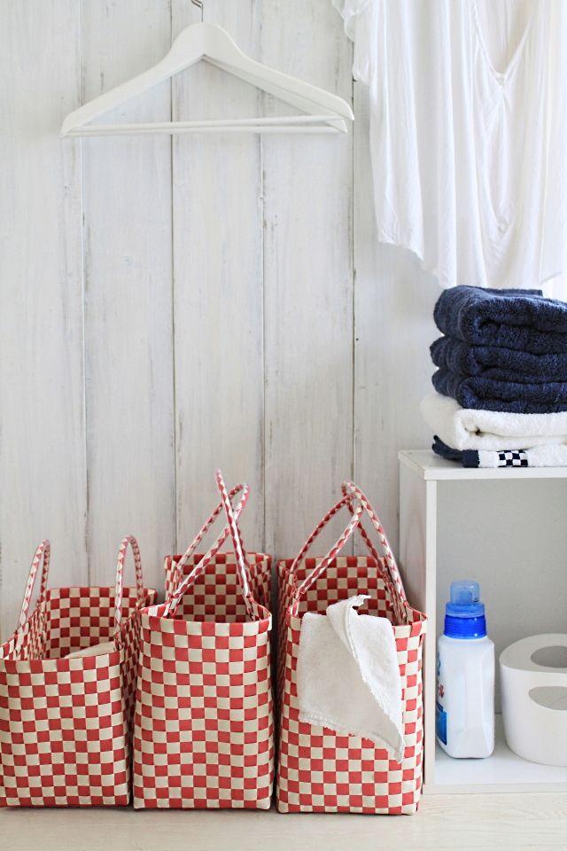 お手頃値段のポリプロピレンのバッグで、洗濯物分別♪