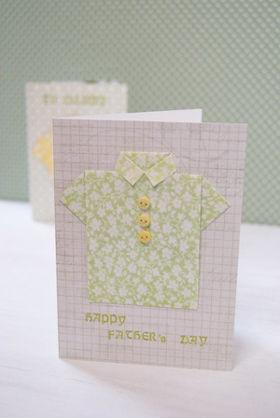 父の日のカードは折り紙でつくる「パパのシャツ」