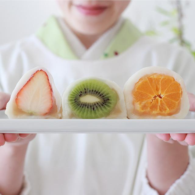 レンジで簡単!フルーツ大福の作り方