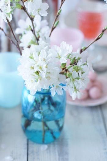 桜の枝の活け方のコツ2つ