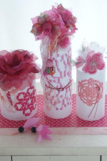 きもの用髪飾りを楽しむ半紙と切り紙のベース作り