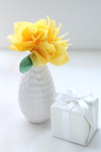 お子さんが作ったお花だったら、喜びも100倍になりそう~。