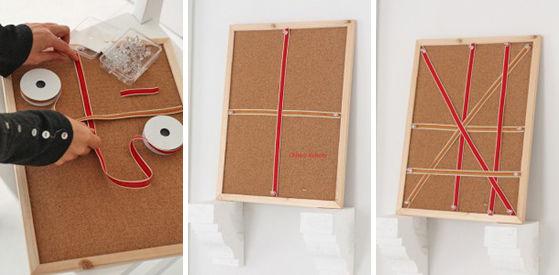 100円コルクボードで簡単リボンボード3