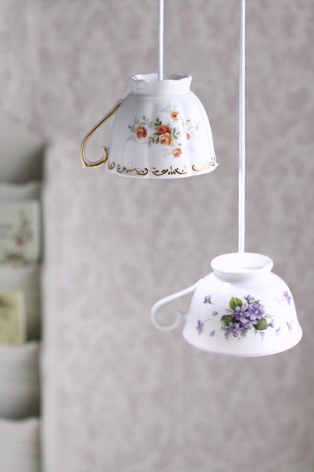 ティーカップ ランプ 手作り DIY