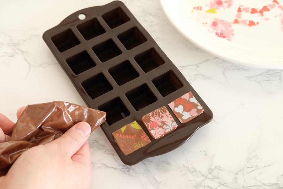 て チョコ 固める 溶かし