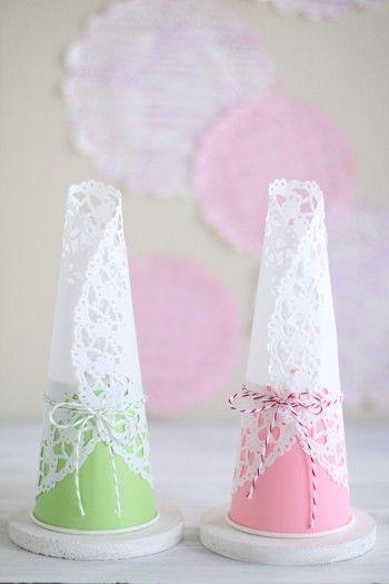 リボンや紐などを巻いても可愛いですよ。 材料は100円ショップでも手に入ります♪