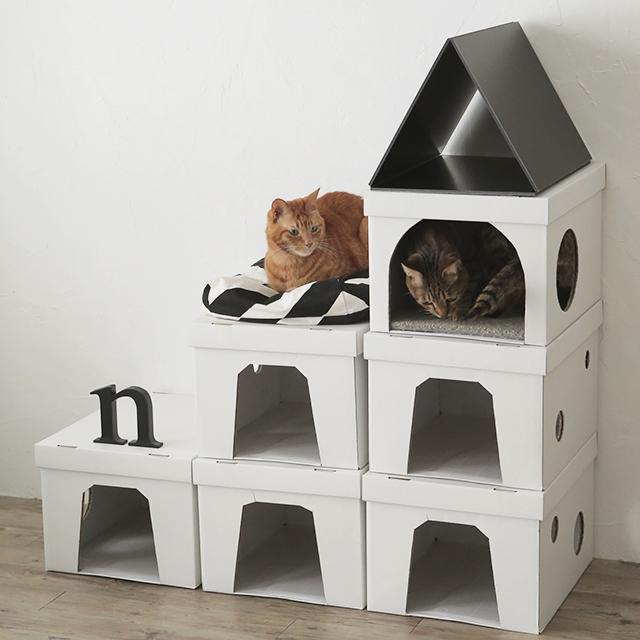 ダンボール箱で作ろう! 猫が喜ぶ3階建てハウスの作り方