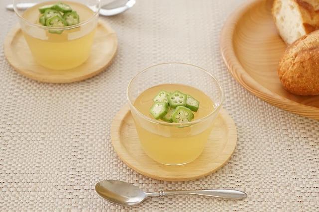 オクラ ジュレ スープ レシピ 夏野菜