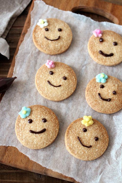 頑張ってるパパに、ニコニコ笑顔のクッキーを♡