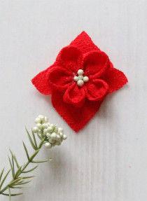 花の中心部にボンドを入れヘップ(または花芯になる造花やビーズ)を貼り付けます。このまま1日乾燥させます。