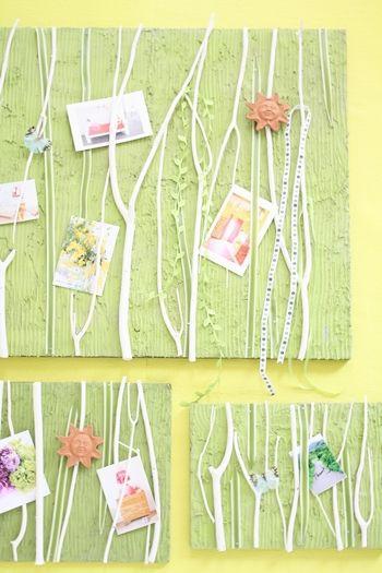 3Dパネルで新緑の壁飾り