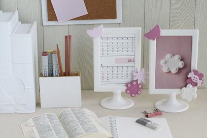 IKEAフォトフレームにクレイでデコ!オリジナルカレンダー作りましょ