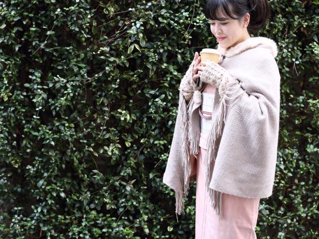 着物 成人式 正月 初詣 防寒対策