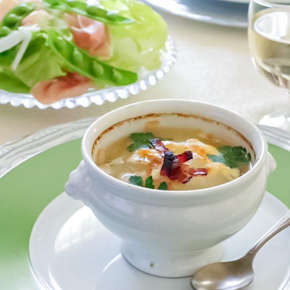 簡単! 新玉ねぎのグラタンスープの作り方