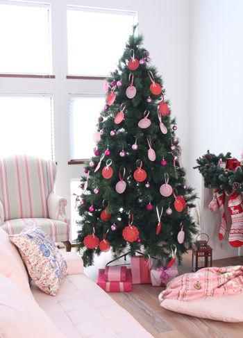 ◆クリスマスNo.4 レースペーパーでつくるクリスマスツリー